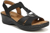 Sunrise T-Strap Wedge Sandal - Wide Width Available