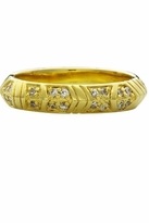 House Of Harlow Pave Crystals Thin Stack Ring