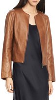 Vince Collarless Zip Leather