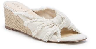Sole Society Smerah Espdarille Wedge Slide Sandal