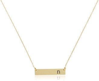 "Mud Pie Chelsea Initial Bar Necklace N Bridesmaid Gift 16"""