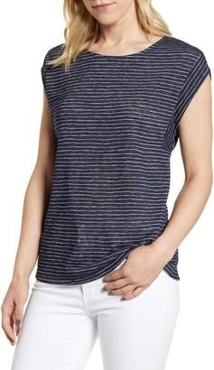 Bobeau Cap Sleeve Knit Top