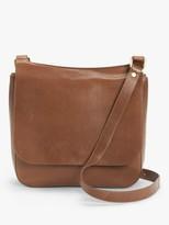 John Lewis & Partners Large Leather Messenger Bag