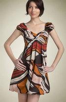 'Tribal Print' Puff Sleeve Dress