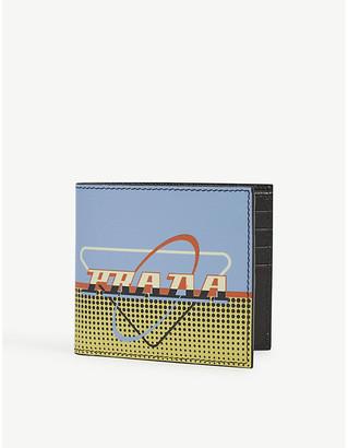 Prada Retro-print leather wallet