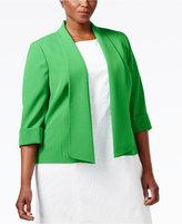 Kasper Plus Size Makali Open-Front Jacket