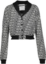 Moschino Cropped intarsia-knit wool cardigan