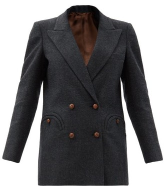 BLAZÉ MILANO Valegro Double-breasted Wool Blazer - Dark Grey