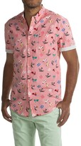 Free Nature Scooter Print Poplin Shirt - Short Sleeve (For Men)