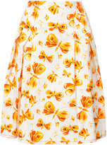 Carolina Herrera butterfly skirt - women - Cotton/Spandex/Elastane/Acetate - 4