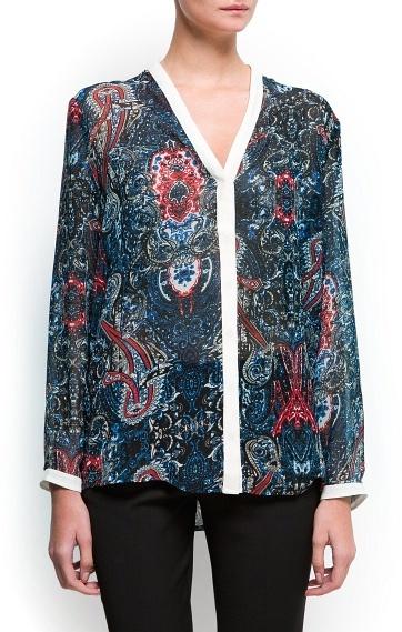 MANGO Paisley print blouse