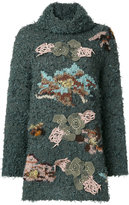 Antonio Marras appliqué detail oversized jumper