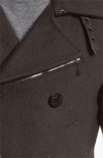 Diesel 'Wittory' Double Breasted Peacoat