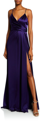 Jill by Jill Stuart Satin Wrap Sleeveless April Slip Dress