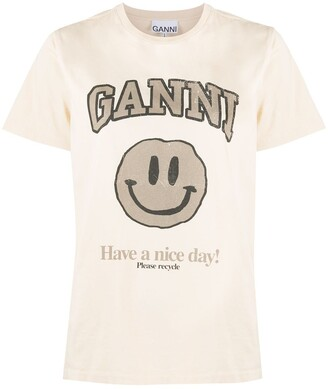 Ganni graphic-print T-shirt
