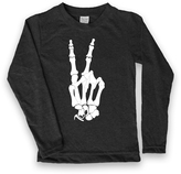 Urban Smalls Black Skeleton Peace Fingers Tee - Toddler & Boys