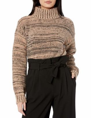 BCBGMAXAZRIA Women's Marled Turtleneck Sweater
