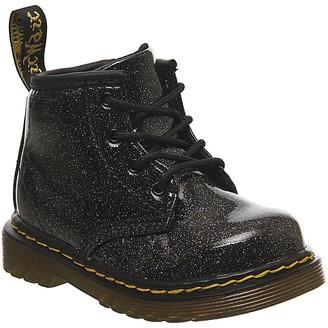 Dr. Martens Lace Boot Inside Zip Brooklee (k) Boots Black Coated Glitter
