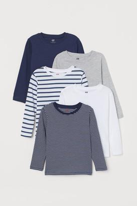 H&M 5-pack Jersey Shirts - Blue