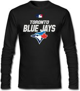 Sarah Men's Toronto Blue Jays Jays TOR Baseball Logo Long Sleeve T-shirt L