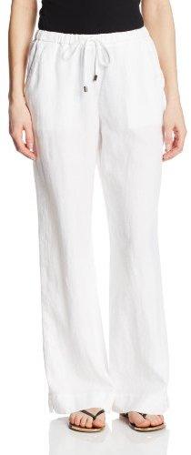 Chaus Sport Women's Drawstring Waist Cuffed Linen Pant