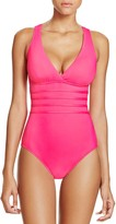 LaBlanca La Blanca Multistrap Cross Back Maillot One Piece Swimsuit