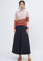 Wunderkind red geo cropped sweater