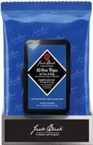 Jack Black All Over Wipes for Face Hair & Body - 30 wipes