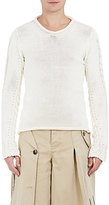 Loewe Men's Cotton-Blend Mixed-Stitch Sweater
