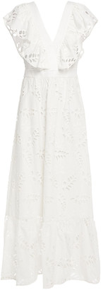 Paul & Joe Ruffled Broderie Anglaise Cotton Maxi Dress