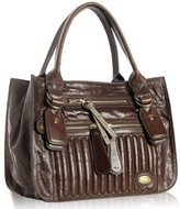 Chloe chocolate calfskin 'Bay' quilted tote