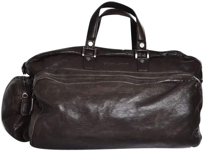 Giorgio Armani Leather weekend bag