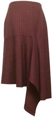 Balenciaga Burgundy Wool Skirt for Women