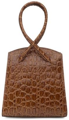 Little Liffner Twisted Croc-Embossed Leather Wristlet