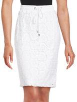 Calvin Klein Drawstring Lace Skirt
