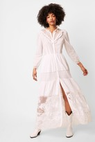 French Connenction Adeona Lawn Lace Mix Dress