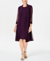Thumbnail for your product : R & M Richards Embellished Dress & Duster Jacket