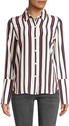 Frame Long Cuff Pajama Blouse