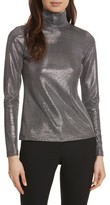 Tracy Reese Women's Silver Turtleneck Top