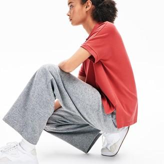 Lacoste Women's Relaxed Fit Croco Magic Logo Pique Polo