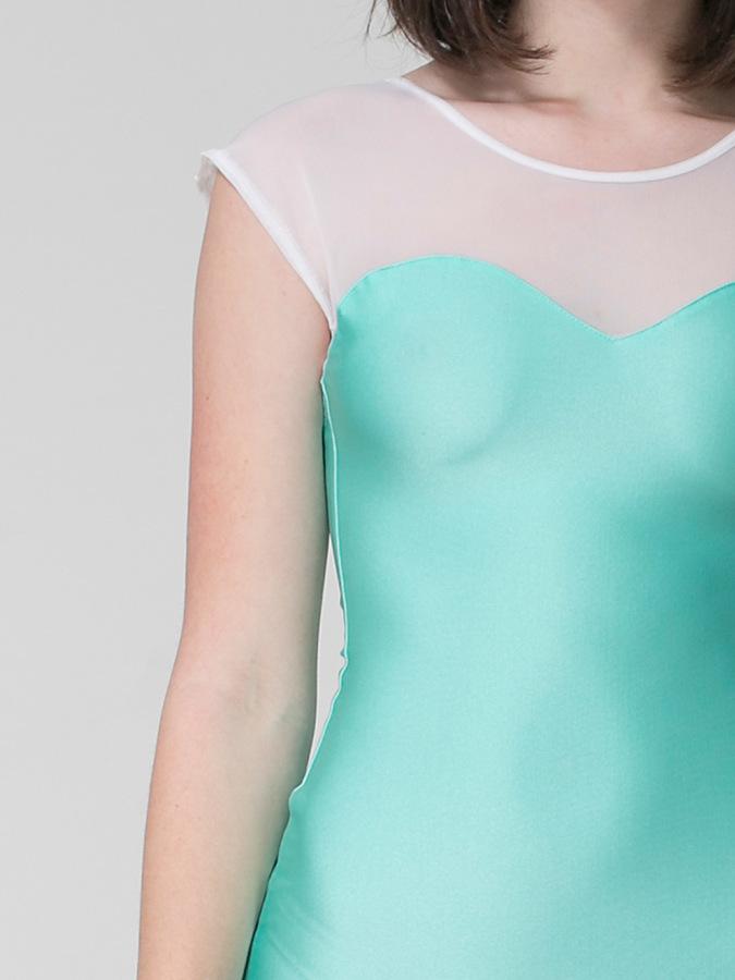 American Apparel Sweetheart Two Tone Mini Dress