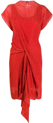 Nina Ricci Draped Side Dress