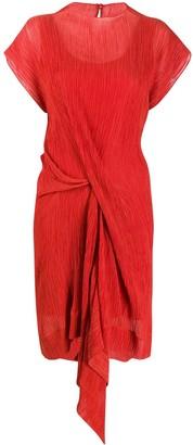 Nina Ricci draped side dress