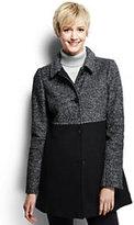 Classic Women's Tall Melange Boiled Wool Coat-Jet Black Melange