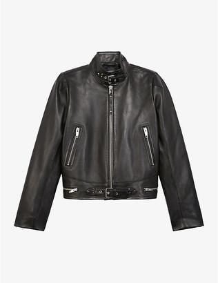 The Kooples High-neck leather jacket