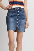 American Eagle Outfitters AE Fray Hem Denim Skirt