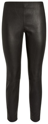 Vince Leather Stitch-Detail Leggings