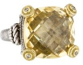 Judith Ripka Canary Crystal & Diamond Ring