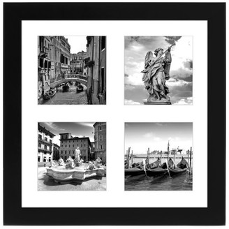 """Americanflat Black Collage Picture Frame, Display Four 4""""x4"""" Photos"""