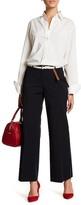 Lafayette 148 New York Kenmare Contrast Stripe Flare Pants (Petite)